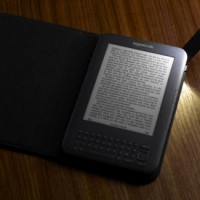 Kindle 3 with Lighted Book Cover