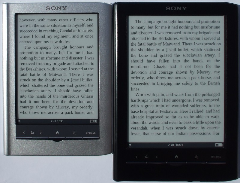 Kindle Vs Sony Reader: PRS-650 Vs PRS-350: Sony Touch Or Sony Pocket?
