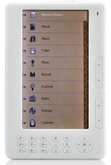 Millennius 7-inch ebook reader