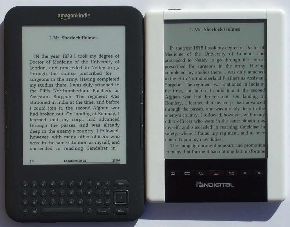 "Kindle Vs Sony Reader: Pandigital Novel Personal 6"" EReader"