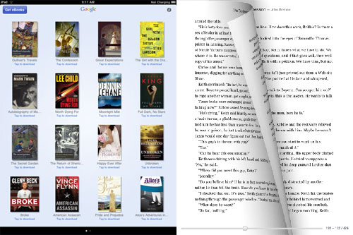 Google eBooks iPad