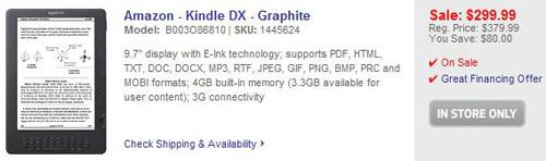 Kindle DX Sale