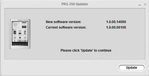 Sony PRS-350 Firmware Update
