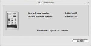 Sony PRS-350 Firmware Update
