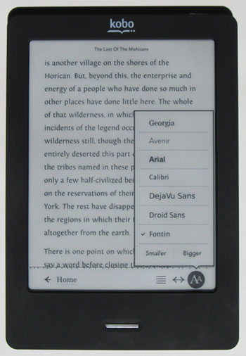 Kobo Touch Fonts