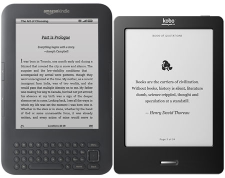 Comparison Review Kobo Touch Vs Kindle 3 The Ebook Reader Blog