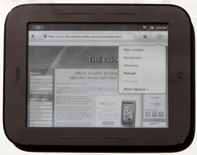 Nook Touch Web Browser