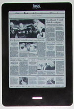 Kobo Touch Newspaper