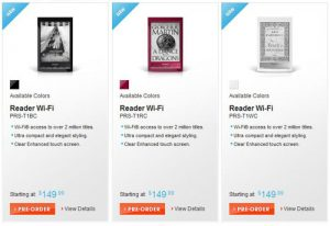 Reader Wi-Fi Pre-Orders
