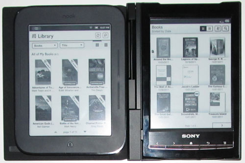 Kindle Vs Sony Reader: Nook Touch Vs Sony Reader PRS-T1 (Video)