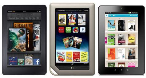 Nook Tablet vs Kindle Fire vs Kobo Vox