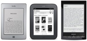 Kindle Touch vs Nook Touch and Sony Reader PRS-T1