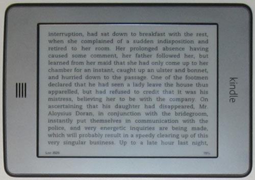 Kindle Touch landscape mode