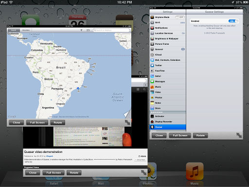 iPad with Quasar