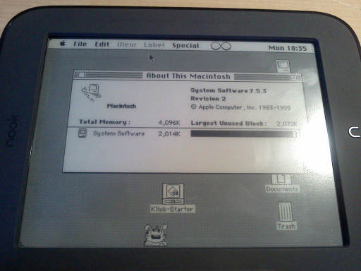Nook Touch Macintosh