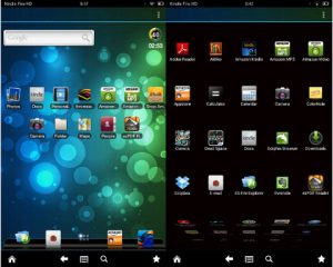 Kindle Fire HD with ADW Launcher Ex
