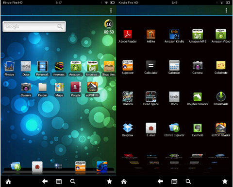 An Alternate Homescreen Launcher for Kindle Fire HD That