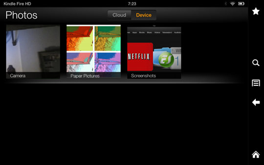 Kindle Fire HD Screenshot