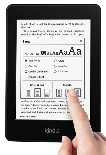 Kindle Paperwhite Fonts