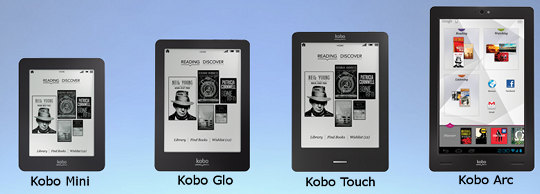 Kobo Glo, Kobo Mini, and Kobo Arc