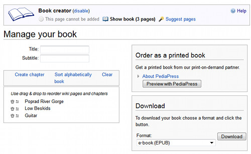 Wikipedia eBooks