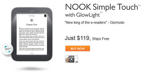 GlowLight Nook Touch