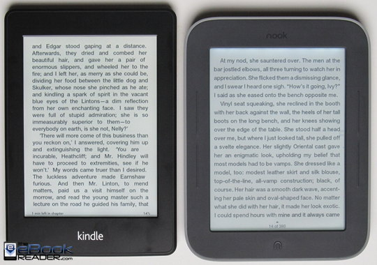 Kindle Vs Sony Reader: Kindle Paperwhite Vs Nook Touch With GlowLight