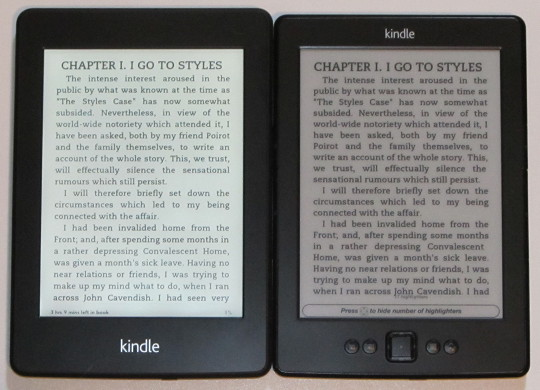 Kindle Paperwhite vs Non-Paperwhite Basic Kindle