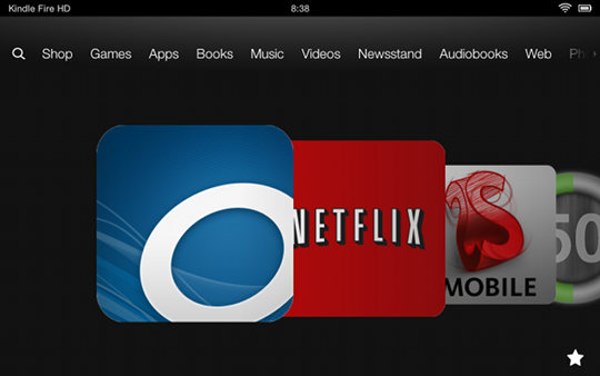 OverDrive on Kindle Fire HD
