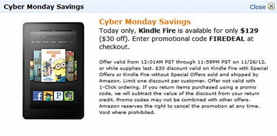 Cyber Monday Kindle Deal