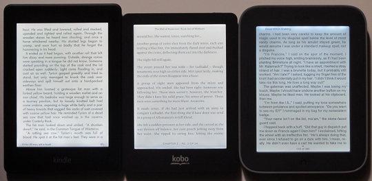 Kindle, Kobo, Nook frontlights