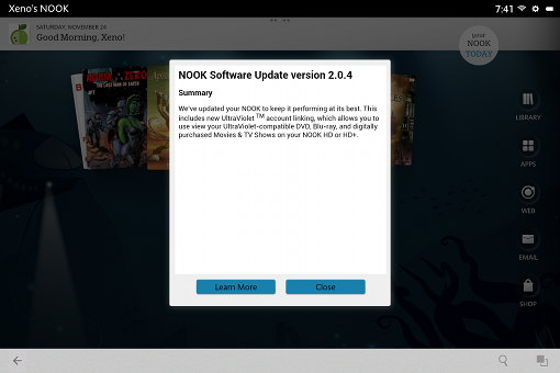 Nook Software Update