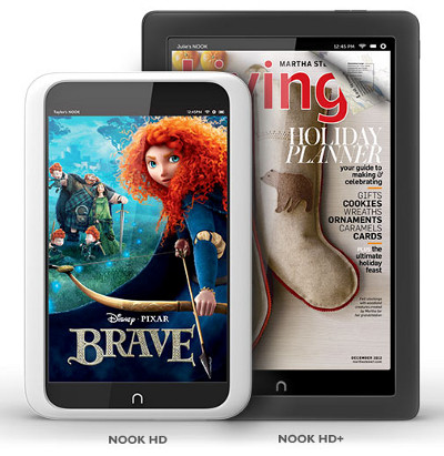 Nook Hd and Nook HD+
