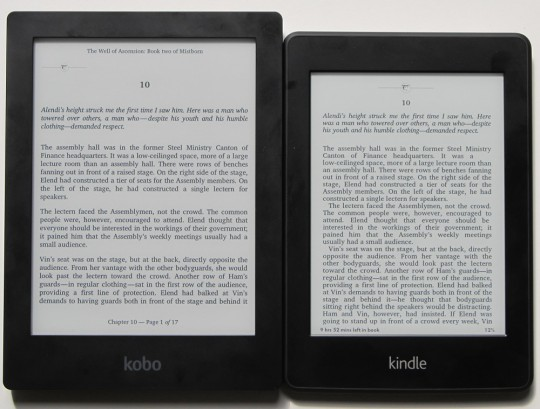 Kindle Paperwhite vs Kobo Aura HD Comparison Review