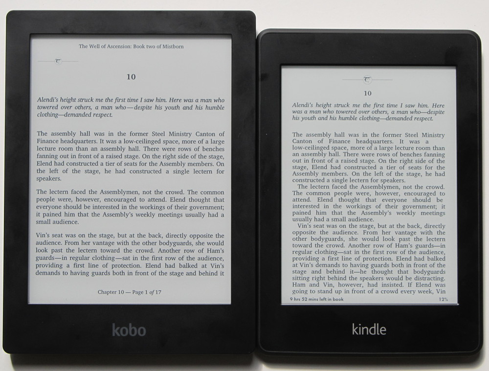 kindle paperwhite vs kobo aura hd comparison review video the rh blog the ebook reader com Amazon Kindle 2 Manual Kindle User Manual 4th Edition