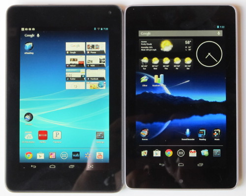 Google Nexus 7 vs Hisense Sero 7 Pro