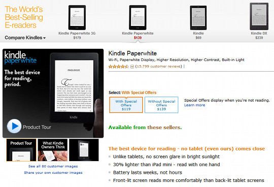 $119 Kindle Paperwhite No Longer Available from Amazon | The