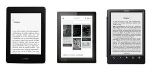 Kobo Aura, Kindle Paperwhite 2, Sony PRS-T3