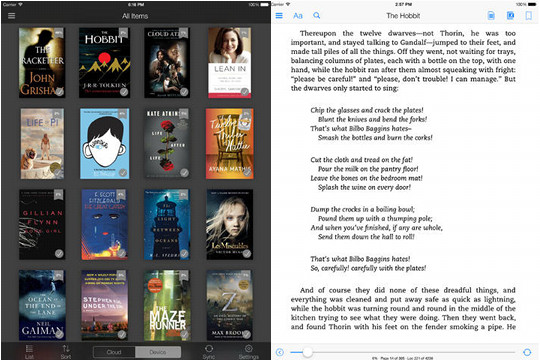 4 0 Update for Kindle iOS App Adds Collections and New Look