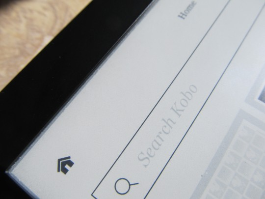 kobo aura hd screen closeup top