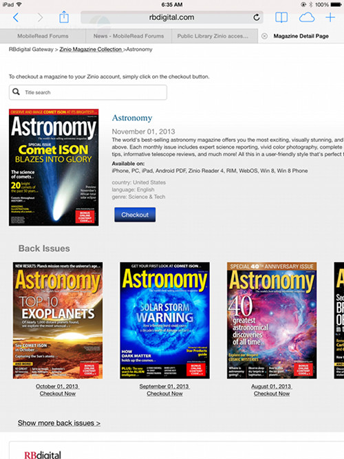 Zinio Now Offers Free Back Issues of Magazines Through