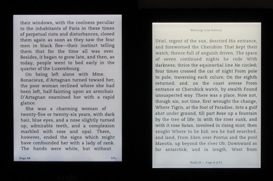 Kindle Paperwhite 2 vs Kobo Aura frontlight