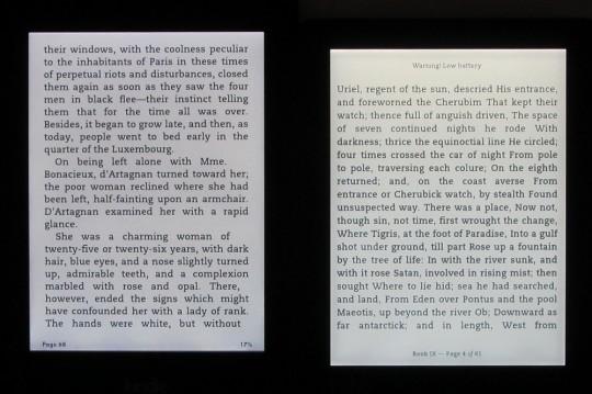 Kindle Paperwhite 2 vs Kobo Aura frontlight