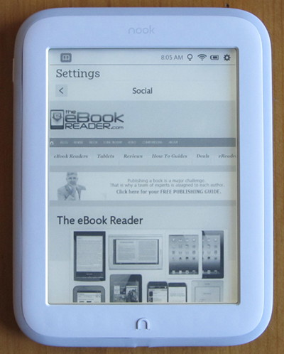 Anyone like using web browsers on e ink ereaders the ebook reader nook glowlight web browser fandeluxe Image collections