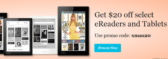 $20 Off Kobo eReaders and Tablets