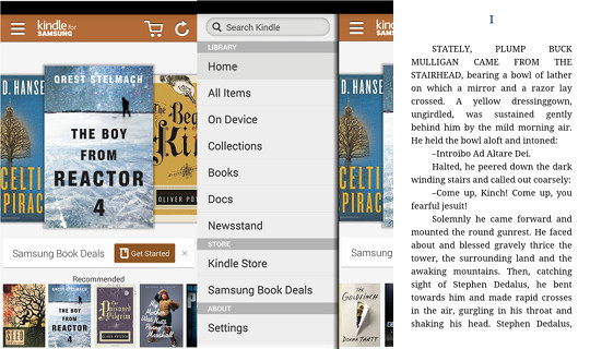 Kindle for Samsung eBook App Review (Video) | The eBook