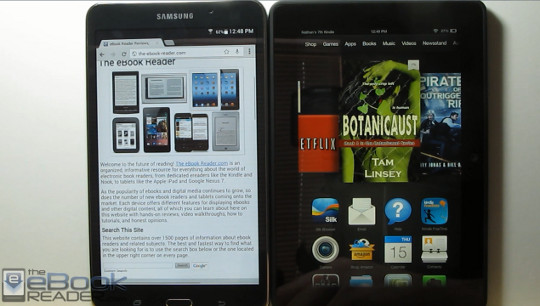 Kindle Fire HDX vs Samsung Galaxy Tab 4