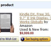 Expensive Kindle DX