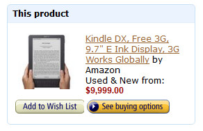 Used Kindle DX Now Going for $9999 at Amazon | The eBook Reader Blog