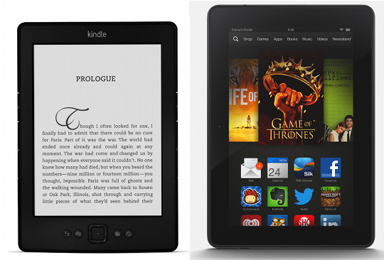 The difference between tablets and ebook readers the ebook reader blog kindle paperwhite kindle fire hdx fandeluxe
